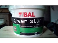 Bal Green star tile adhesive for walls white