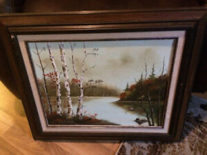 Framed signed oil on canvas painting by Mylymuk