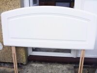 White Wooden Double Headboard as new never used