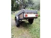 Trailer 5 X 3 braked with cover, lights and spare wheel
