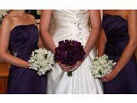 2 Bridesmaid dresses - amethyst