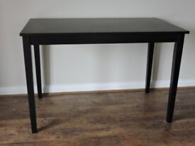 Matt Black Kitchen Table