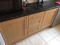 Kitchen cabinets and worktop. Ready for immediate collection