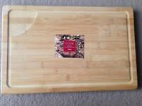 ( New and sealed ) Tesco Bamboo Butchers Block 46 x 30 cm