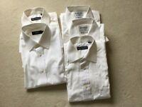 Men's white short sleeved shirts