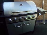 Large gas barbecue with gas bottle used once