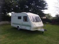 Elldis tornado XL 4 berth caravan and awning