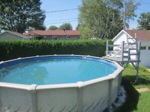 piscine 21 pieds et accessoires