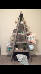 Home decor ladder shelf