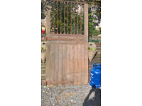 LARGE ANTIQUE WOODEN GATE