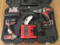MILWAUKEE 18v DRILL TWIN SET