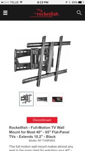 "Full Motion TV Wall Mount 40""-65"" TV's"