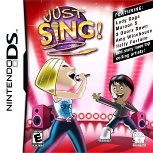 Just Sing w/Microphone - Nintendo DS - BRAND NEW
