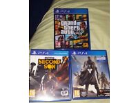PS4 games, like new;played once