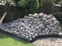 Reclaimed lovely rustic granite setts cobbles stone boulders appx 35sqm! Make an offer!