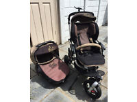 PUSHCHAIR STROLLER PRAM CARSEAT CARRYCOT TRAVEL SYSTEM JANE MATRIX SLALOM R - EXTRA BUGGY BOARD