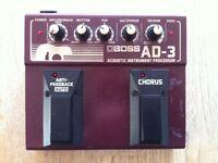 Boss AD-3 Acoustic Instrument Processor (Chorus/Reverb/EQ) multi effects guitar pedal