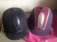 2 Harry hall riding hats for sale