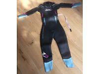 Ladies Zone3 Vision wetsuit. XS.