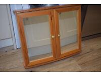 Pine Mirrored Bathroom Cabinet