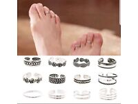 Brand New Silver Ladies Toe Rings