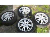 renault 5 stud alloy wheels 225/45/r17