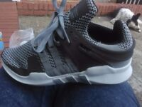 Adidas EQTs size 6 2 pairs reps brand new one white n grey other black n grey