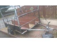 caravan chassis canoe/kayak trailer