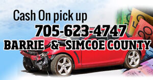 "SCRAP VEHICLES WANTED ""CASH"" 705 623 4747"