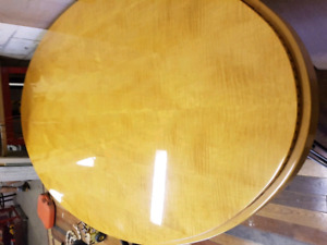 SUPER HIGH END BOARDROOM/ DINING ROOM TABLE WITH 3 EXECUTIVE CH