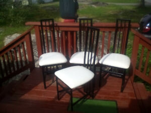 4 metal kitchen chairs