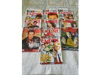 A varied Collection of Empire Film Magazine ranging from 1991 - 2000