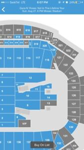 Gun's and Roses-2 tickets