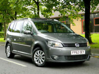 2012 62 Volkswagen Touran 2.0TDI ( 140ps ) Tech BlueMotion Sport WITH MEGA SPEC!