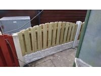 2 x Double palisided 6x2 bow fence panels