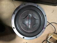 Car áudio subwoofer
