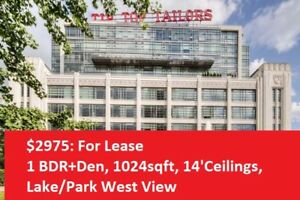 Tip Top Tailors - Hard Loft 14' Ceilings, West Unobstructed View