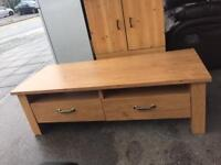 Very Nice Wooden Coffee Table With Drawers