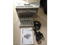 Behringer EURORACK MXB1002 10 Channel mixer with cable. Very little use, pristine, boxed.