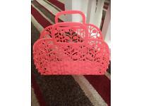 Girls Flouresant Pink Bag