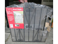 New wrought iron Scroll Single gate (fits 840-920mm gap)