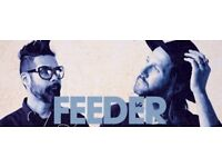 2x FEEDER concert tickets at Chepstow Racecourse, 25th August 2017
