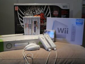 Console Wii, incluant un emsemble Guitar Hero