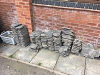 HANGING ROOF TYPE TILES CONCRETE ORNATE APPROX 180
