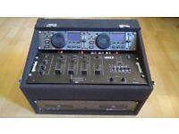 GEMINI CDX-2250 Pro CD decks and Mixer in Flightcase