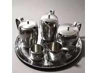 Retro Viners Tea and Coffee Pot Set with a Swan Brand serving Tray