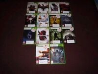 Xbox 360 games for sale (14 pieces)