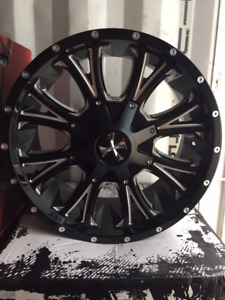 "CLEARANCE!  20"" Cali Offroad Dirty Rims Ram 1500 / Jeep Wrangler"