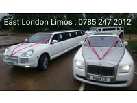 Wedding Car Hire, Limo Hire, Hummer Limo and Porsche Limo, Rolls Royce Phantom Hire East London VIPs