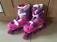 Girls pink roller skates uk 3-6